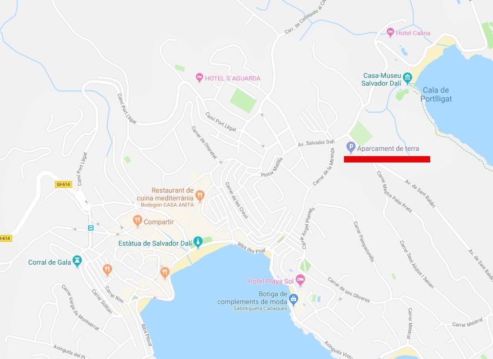 Mapa de situació de l'aparcament